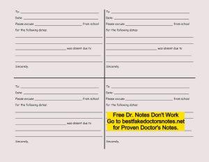 free printable fake doctors note