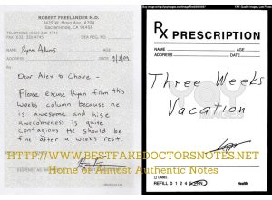 Print your own copy of a doctor's note