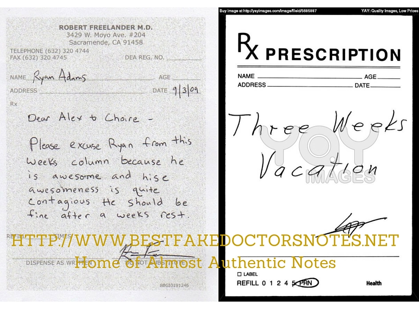 A Doctors Excuse Note For All Your Needs