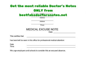 Fake doctors notes